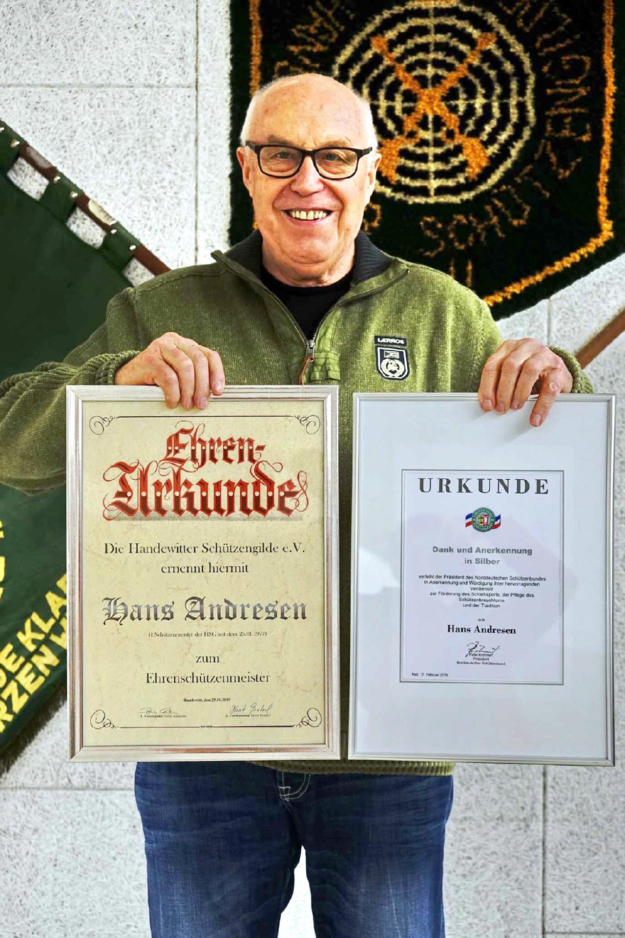 Read more about the article Besondere Auszeichnungen für Hans Andresen