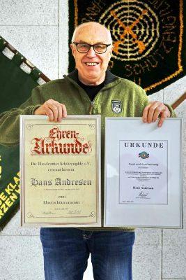Ehrenschützenmeister Hans Andresen